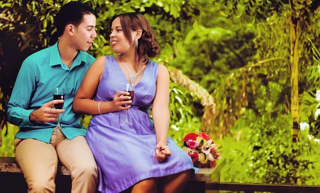 muž, žena, pití, zamilovanost