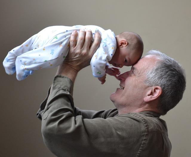 děda a dítě
