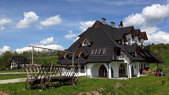 luxusní dům v přírodě
