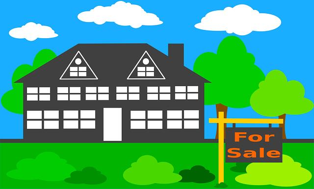 dům na prodej ilustrace