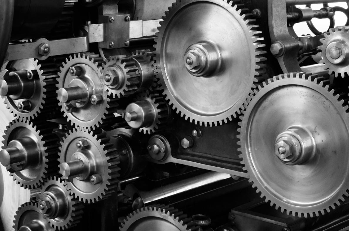 pracující stroj